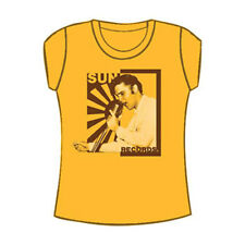 Elvis Presley  Elvis On The Mic Girls Jr Tissue Tee Yellow Rockabilia