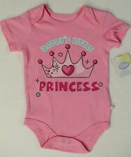 Disney Infant Baby Girls Daddy's Little Princess Creeper Bodysuit Father's Day