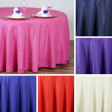 """24 pcs Wholesale Lot 108"""" ROUND POLYESTER TABLECLOTHS Wedding Catering Supplies"""