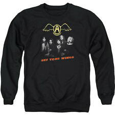 Aerosmith Men's  Get Your Wings Sweatshirt Black Rockabilia