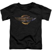 Doobie Brothers Boys' Biker Logo Childrens T-shirt Black Rockabilia