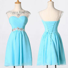 Short Chiffon Cocktail Evening Prom Homecoming Wedding Party Bridesmaid Dresses