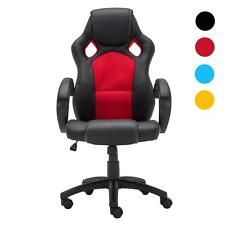 High Back PU Leather Race Car Style Bucket Seat Office Desk Chair Gaming Chair
