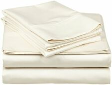1000 Thread Count Egyptian Cotton 3pcs Duvet Cover Set Ivory Solid
