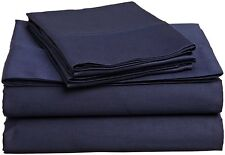 1000 Thread Count Egyptian Cotton 3pcs Duvet Cover Set Navy Blue Solid