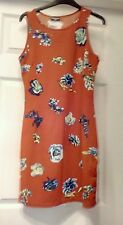 Red floral shift dress size 12/14