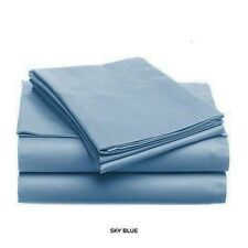 Soft & Light Solid Color Bed Sheet Set, King, Queen, Full, Twin, Sky Blue