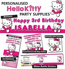 Personalised Hello Kitty Birthday Party Banners Decorations and Supplies