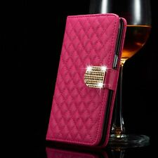 Luxury Bling Crystal Diamond Wallet Flip Case Cover For Apple iPhone 5 5s 6 6s