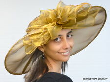 NEW Women's Kentucky Derby Hat Off the Face Wide Brim Shimmering Organza