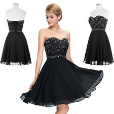 Formal Ball Gown Evening Prom Party Dress Sweetheart Bridesmaids Wedding Mini