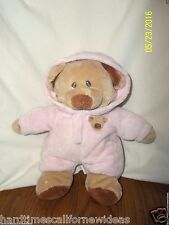 "TY BEAR PLUFFIES PLUSH NON-REMOVABLE PAJAMAS 10"" 2013"