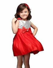 Baby Girls Party Dress Bow Sequined Princess Recital Pageant Dresses Gown 9M-5Y