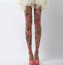 15D/120D Womens Girls spring Tattoo Sexy velvet Pantyhose Stockings Tights