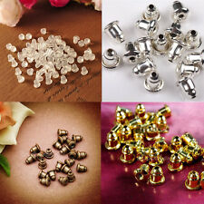 Hot Sale 50/100X Earring Backs Stoppers Findings Ear Post Nuts Jewelry Makings