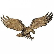 Recycled Aluminium Eagle Wall Plaque w Brass Finish. Free Shipping