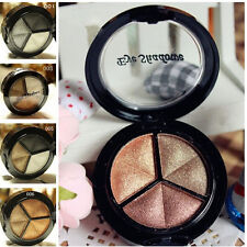 Hot 3 Colors Eyeshadow Natural Smoky Cosmetic Eye Shadow Palette Set Make Up