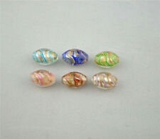10pcs 15mm Handmade Oval  Murano GLASS LAMPWORK  Beads Charming Beads