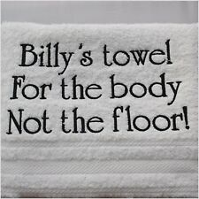 Personalised Towel, White Luxury 100% Cotton Towels, White 550 gsm