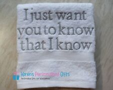 Personalised Towel, White Luxury Egyptian towels 600 gsm Hand/Bath/Sheet
