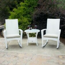 Tortuga Outdoor Bayview 3-pc. Wicker Rocking Chair and Table Set. Free Delivery