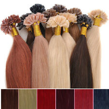 AAAA Fusion Pre Bonded Nail U Tip Remy Human Hair Extensions 16-22inch Straight