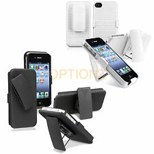 Slide Case with Belt Clip Swivel Holster Stand for Apple iPhone 4 4S + Screen
