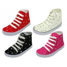 New Children's Canvas Sneakers Jeans Star Printed Canvas Shoes Sz 4 - 8