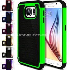 Rugged Rubber Matte Dual Layer Protective Hybrid Case Cover for Samsung galaxy