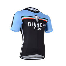 Outdoor Sports Road Bike Cycling Jerseys Blue Riding Short Sleeve Shirt Wear Hot