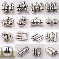 10X Silver Plated Tone Strong Magnetic Clasps Hooks Jewelry Necklace Finding DIY