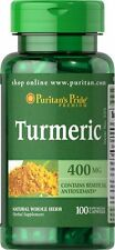 Tumeric 400 mg x 100 Capsules Very Versatile Super Herb 24HR Dispatch