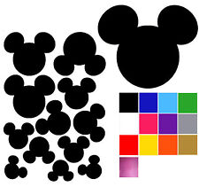 Mickey Mouse Wall Stickers x 12. Self Adhesive Mickey Mouse Wall Stickers