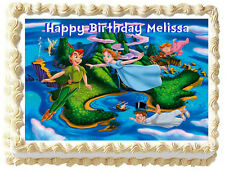 PETER PAN Image Edible Cake topper party decoration