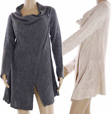 Tunic Shawl collar Vest Cardigan Jumper Waterfall Knit Cardigan SIZE 36-40 P230