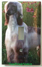 Afghan Dog Light Switch Power Outlet Duplex Cover Plate Home Decor