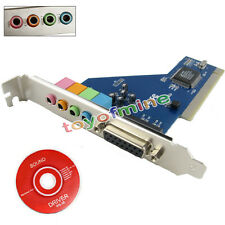 New 4 Channel 5.1 Surround 3D PCI Sound Audio Card for PC Windows XP/Vista/7/8