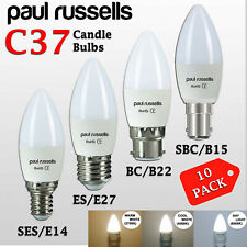 PAUL RUSSELLS HALOGEN CANDLE LOW ENERGY SAVING LIGHT BC SBC ES SES BULBS LAMPS
