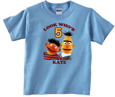 Personalized Custom Sesame Street Bert and Ernie Birthday Shirt Gift