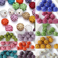 20pcs   8/10mm Czech Crystal Rhinestones Round Disco Ball Spacer Bead
