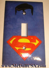 Superman Logo Switch Duplex Outlet Cover Plate Home decor