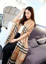 Women Soft Long Neck Large Silk Stripe Printing Shawl Scarves Silk Square Scarf