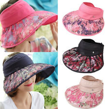 Summer Women Girls Lace Sun Visor Wide Brim Sun Caps UV Protect Hat Foldable New