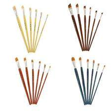6 Pcs Art Paint Brush Set Nylon Hair Watercolor Acrylic Oil Painting Supplies