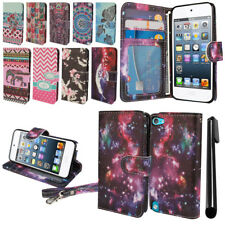 For Apple iPod Touch 5 5th 6 6th Gen Flip Wallet POUCH LEATHER Case Cover + Pen