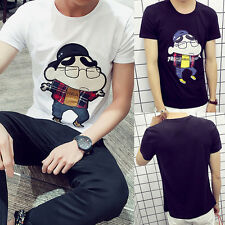 Fashion Mens Summer Casual Crew-Neck Short Sleeve Anime Cosplay Tops Tee T-Shirt