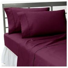 Comfort bedding 1000 TC 100% Egyptian Cotton Bed Sheet Set Wine Solid