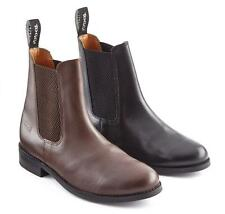 TOGGI OTTAWA JODHPUR BOOTS BLACK OR BROWN - PU LEATHER - PONY HORSE YARD RIDING