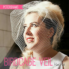 DIY Hat Kit! Make your own Bridal Birdcage Wedding Veil - Ivory, White or Black