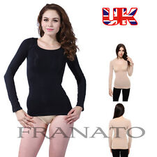 Franato Women Firm Control Slim Seamless Body Shaper LongSleeve Soft Shaperwear